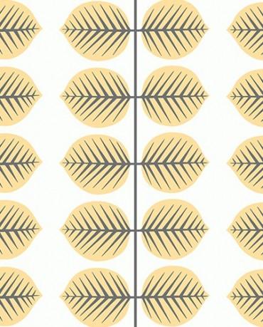 Papel Pintado Hojas Amarillas