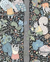 Papel Pintado Conejos Bosque 2