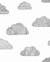 Papel Pintado Nubes Gris
