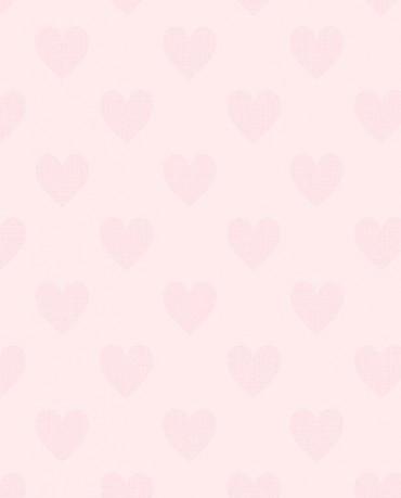 Papel Pintado Corazones Rosas