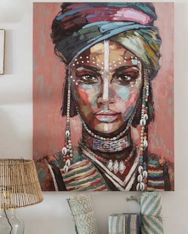 Cuadro Mujer Africana 90x120