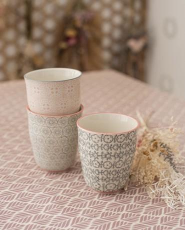 Set vasos cerámica (3 ud.) - Illetes