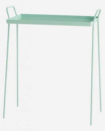 Mesa auxiliar verde mint