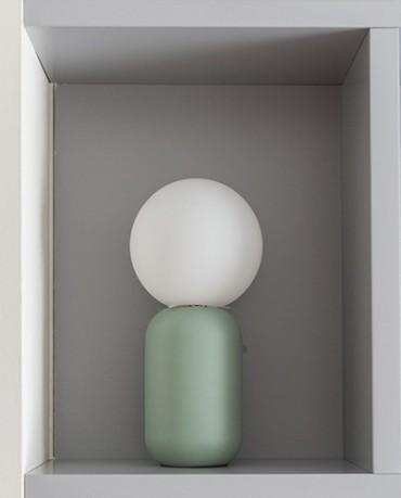 Lámpara Mesa vidrio mint