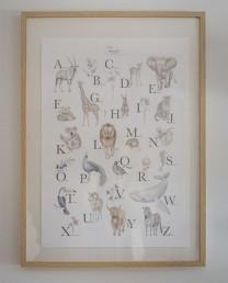 LÁMINA ALFABETO ANIMAL 42 X 59,40 cm