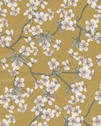 Hule Flores Mostaza