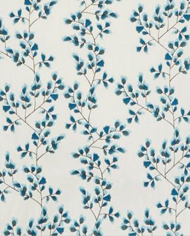 Papel Pintado flores azules
