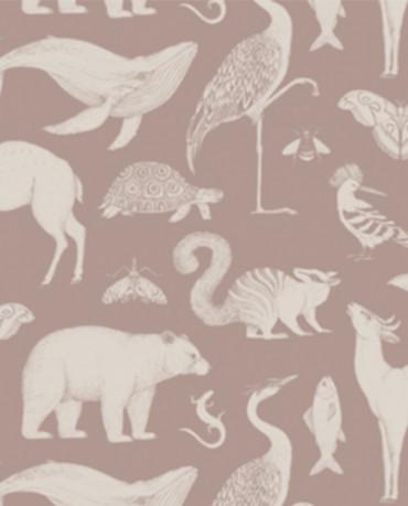 Papel Pintado Animales Moka