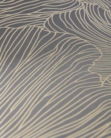 Papel Pintado Coral Dark Oro