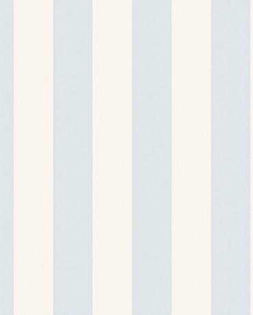 Papel Pintado Raya ancha azul