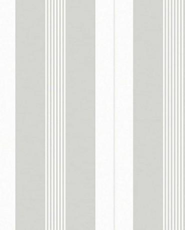 Papel Pintado Raya combi gris claro