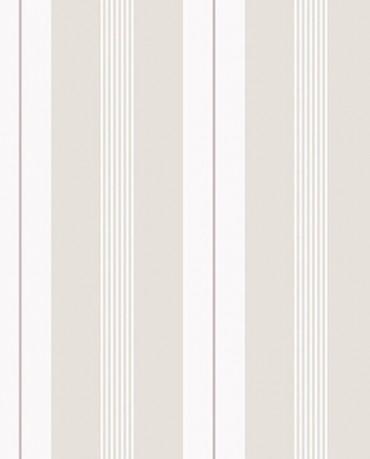 Papel Pintado Raya combi gris topo