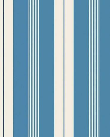 Papel Pintado Raya combi azul