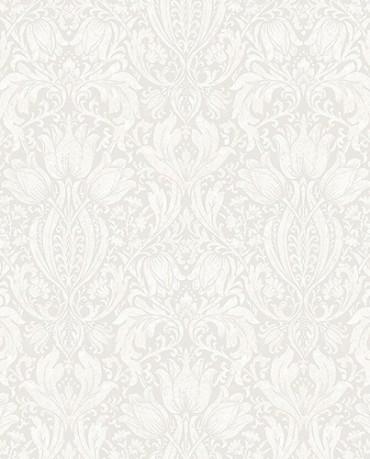 Papel Pintado flores vintage blanco