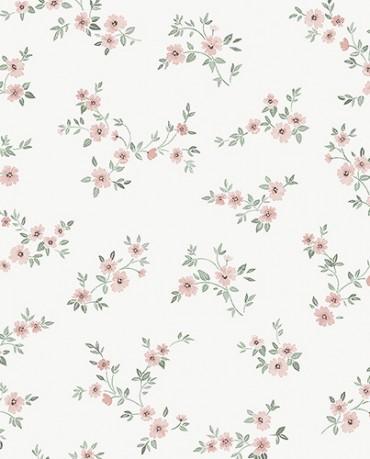 Papel Pintado flores contemporáneas rosas