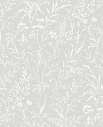 Papel Pintado flores silvestres gris