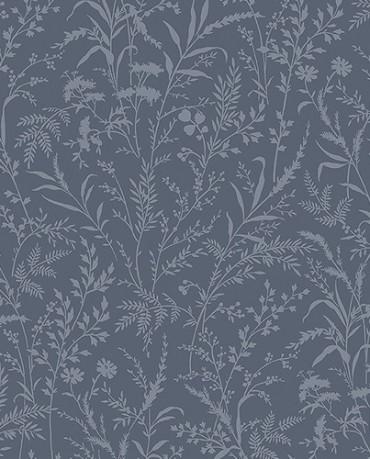 Papel Pintado flores silvestres azul