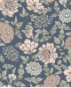 Papel Pintado floral azul