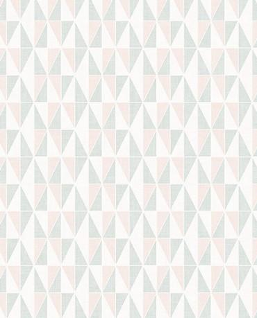 Papel Pintado triángulos geométricos color