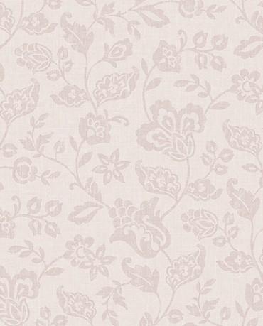 Papel Pintado ramas flores rosas
