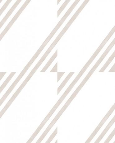 Papel Pintado raya inclinada beige