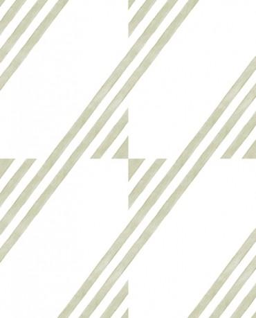 Papel Pintado raya inclinada pistacho