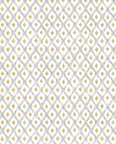 Papel Pintado rombo print perla