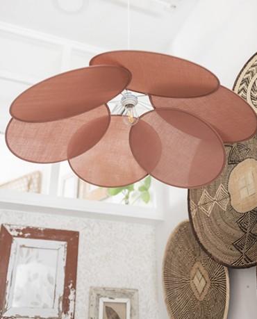 Lámpara Pétalos algodón nude