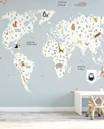 Mural AUTOADHESIVO Mapa del mundo