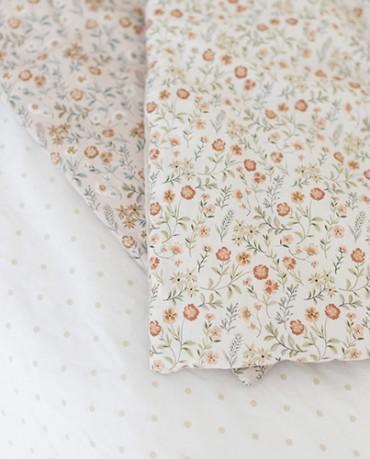 Plaid Edredón Flores verde 190x90