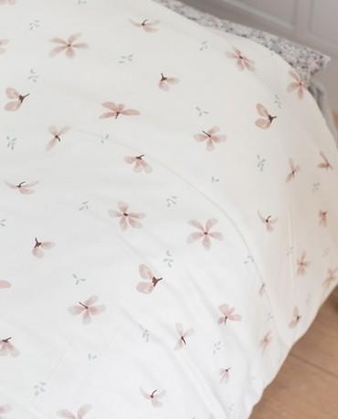 Funda nórdica cama anémonas rosa