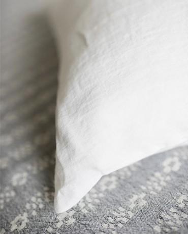 Funda Cojín lino blanco 30x40