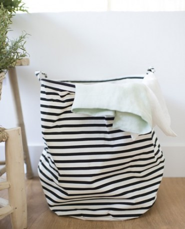 Cesto ropa sucia rayas